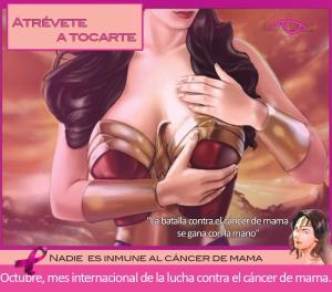 """""""Nadie es inmune al cáncer de mama"""". Cuando se trata del cáncer de mama no hay mujeres o super mujeres. UNETE"""